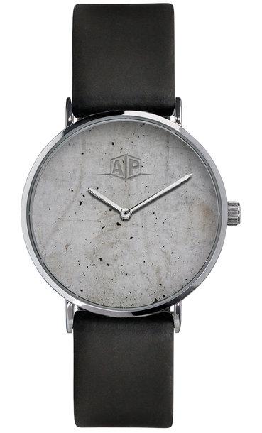 Armbanduhr mit Beton-Druck-Optik auf Zifferblatt