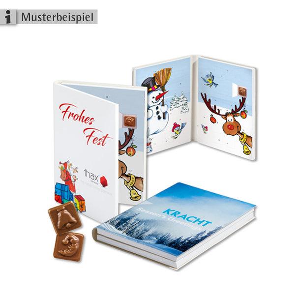 Adventskalender-Buch mit Schokolade