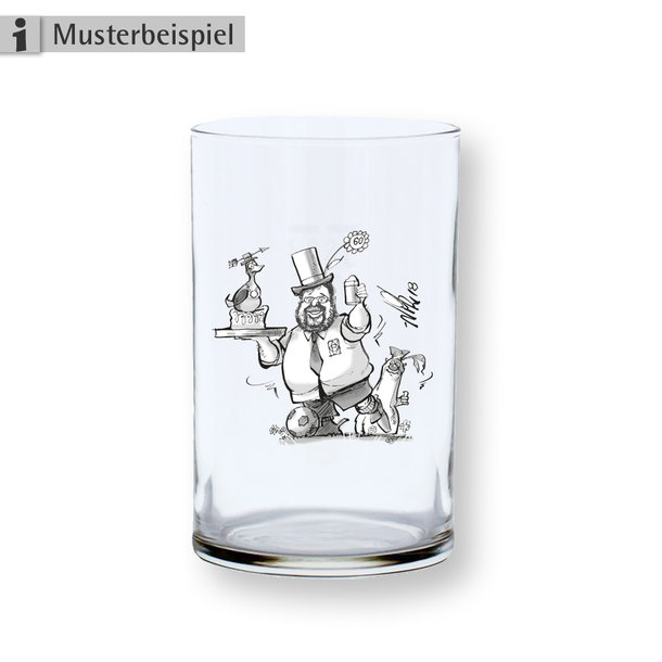 Altbierglas mit Gravur