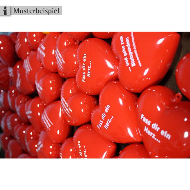 Blutspende-Werbung mit Herz: Fass Dir ein Herz und spende Blut