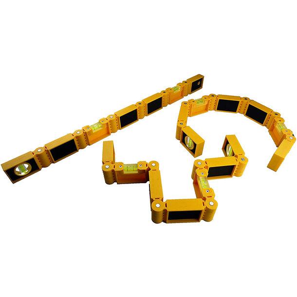 Flexxi-Snake® - flexible Wasserwaage mit 6 Gelenken