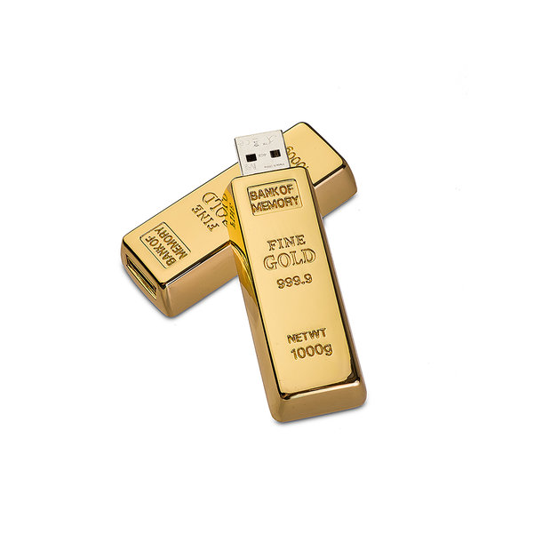 Goldbarren USB-Stick