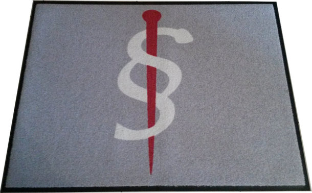 Fachanwalt für Medizinrecht - Werbemittel-Teppichmatte mit Äsculapstab