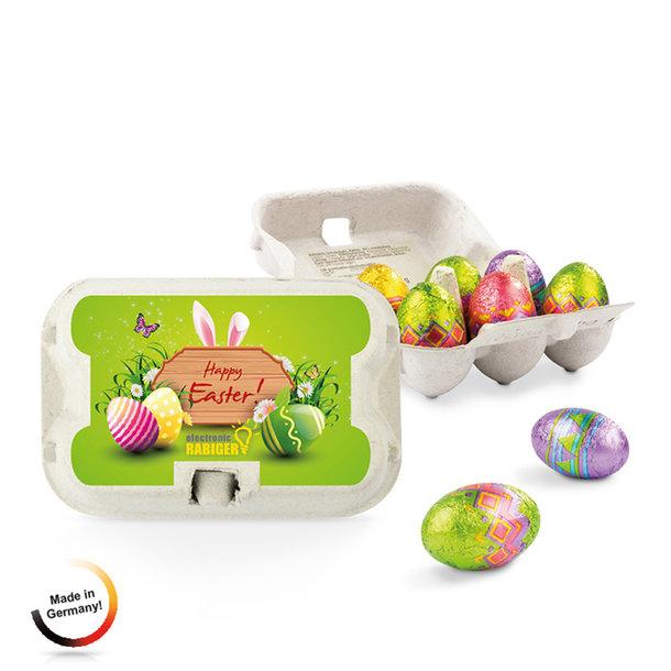 "Ostereier-Schokoladen-""Sixpack"" in Kleinformat"