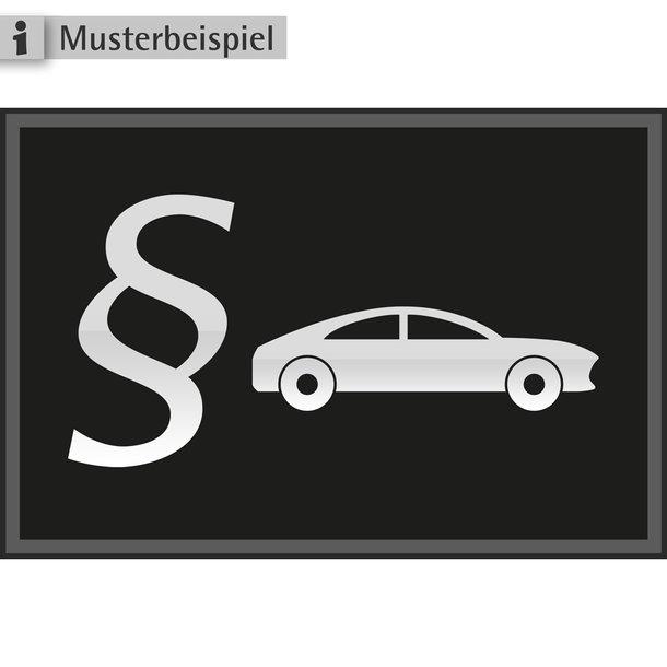 FA für Verkehrsrecht - Teppichmatte mit PKW und §-Logo