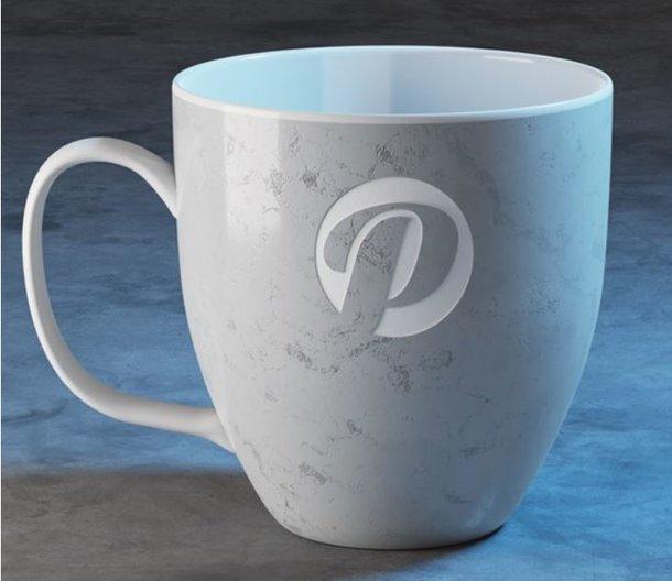 große Cappuccino-Tasse in Beton Optik