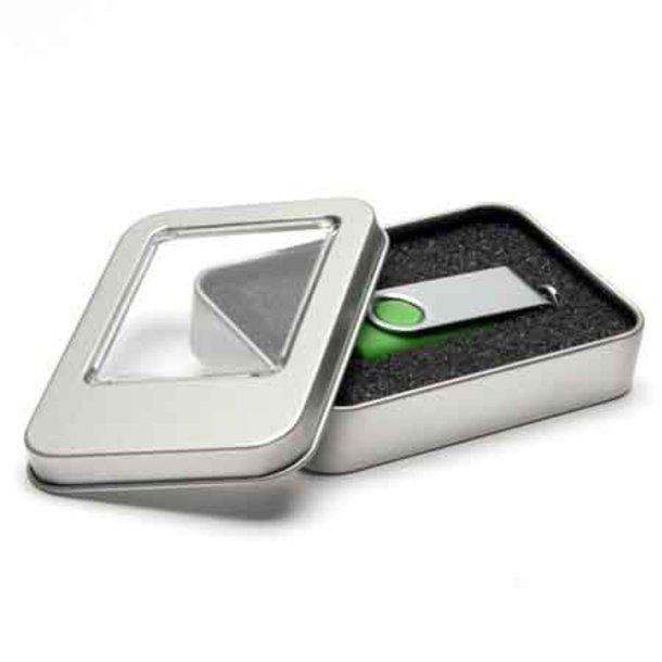USB-Stick - Metall-Verpackung mit Sichtfenster