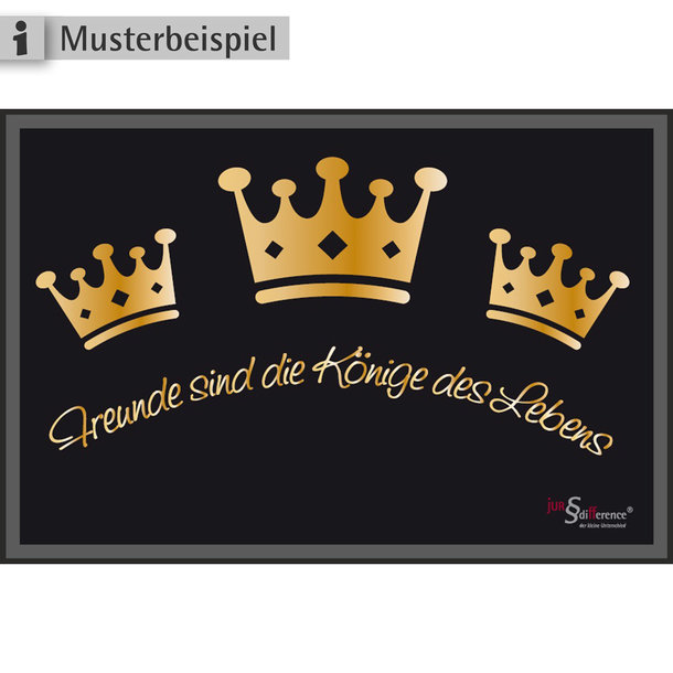 Teppichmatte mit Logo für Schützen + Bruderschaften