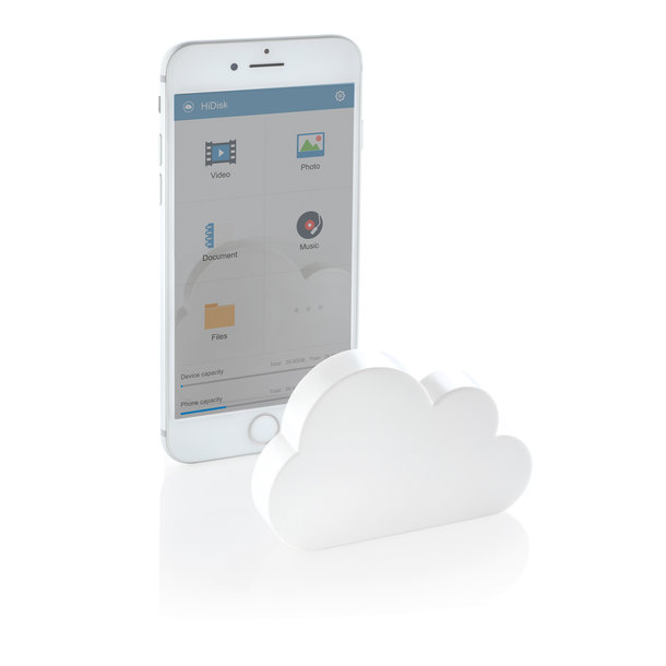 Pocket-Cloud - kabelloser Speicher in Wolkenform